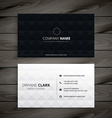 simple black and white diamond business card vector image vector image