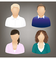 Social Icons People vector image