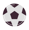 sport soccer ball equipment flat style icon vector image vector image