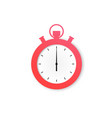 stopwatch retro icon in flat style vector image