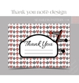 Thank you Note - Direction sign from Wonderland vector image vector image