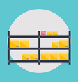 Warehouse icons logistic blank and transportation vector image vector image