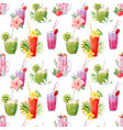 watercolor smoothie pattern vector image vector image