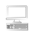 desktop technology hardware vector image