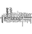 a little lesson on loans text word cloud concept vector image vector image