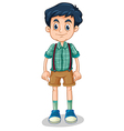A tall young man vector image vector image