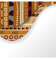 Abstract background with African elements vector image vector image