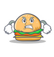 angry burger character fast food vector image vector image