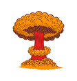 atomic bomb explosion in comic style design vector image