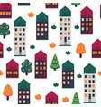 autumn city seamless vector image