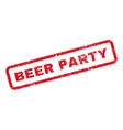 Beer Party Text Rubber Stamp vector image vector image