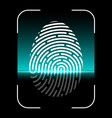biometric fingerprint scan vector image vector image