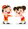 Chinese Kids number one vector image vector image