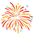 Close up firework on white vector image