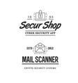 cyber security sign or banner with icon flat vector image
