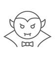 dracula vampire thin line icon bat and halloween vector image