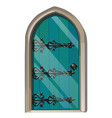 entrance door in the medieval style vector image