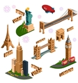 Famous building set vector image vector image