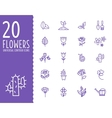 Flower and Gardening Tools Icons with White vector image