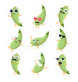 funny zucchini - isolated cartoon emoticons vector image vector image