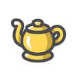 genie golden lamp icon cartoon vector image