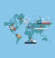 global logistics network vector image vector image