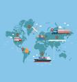 global logistics network vector image vector image