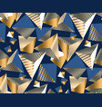 gold and blue geometric shapes in dynamic chaos vector image vector image