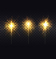 golden sparklers on metal stick realistic set vector image