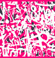 graffiti seamless pattern with abstract vector image vector image