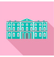 green city historical building icon flat style vector image vector image