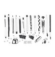 hand drawn art tools vector image