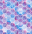Hand drawn purple background with hexagons vector image vector image