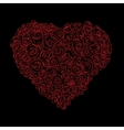 heart of red roses vector image vector image