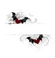 heart vampires vector image vector image