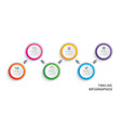 infographics timeline circle paper with 6 data vector image vector image