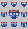 INTERSTATE SIGNS 175-975 vector image vector image