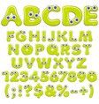 jelly alphabet numbers and characters with eyes vector image vector image