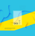 liquid abstract yellow and blue background vector image vector image