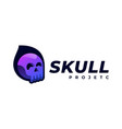 logo skull gradient colorful style vector image vector image
