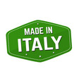 made in italy label or sticker vector image vector image