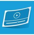 Mediaplayer sticker vector image vector image