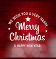 merry christmas and happy new year 2019 background vector image