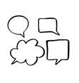 monochrome speech boobles set set hand vector image