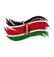 national flag of kenya designed using brush vector image vector image