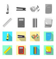 office and supply sign set vector image