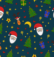 Pattern winter holidays vector image vector image
