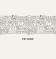 pet shop banner concept vector image