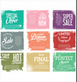 premium quality retro vintage grunge labels vector image vector image