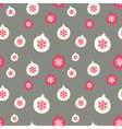 retro style christmas baubles seamless pattern vector image